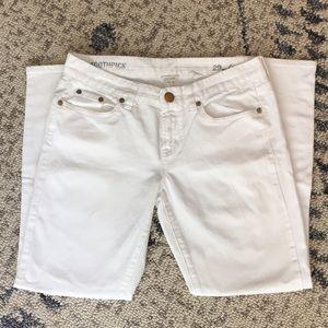 J. Crew Toothpick white jean